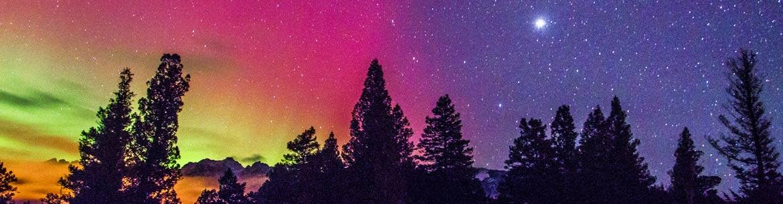 Aurora borealis at Dutch Creek Hoodoos (Photo by Dan Walton)