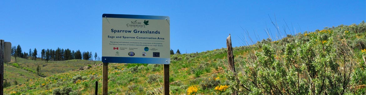 A sign at Sage and Sparrow Conservation Area (Photo by NCC)