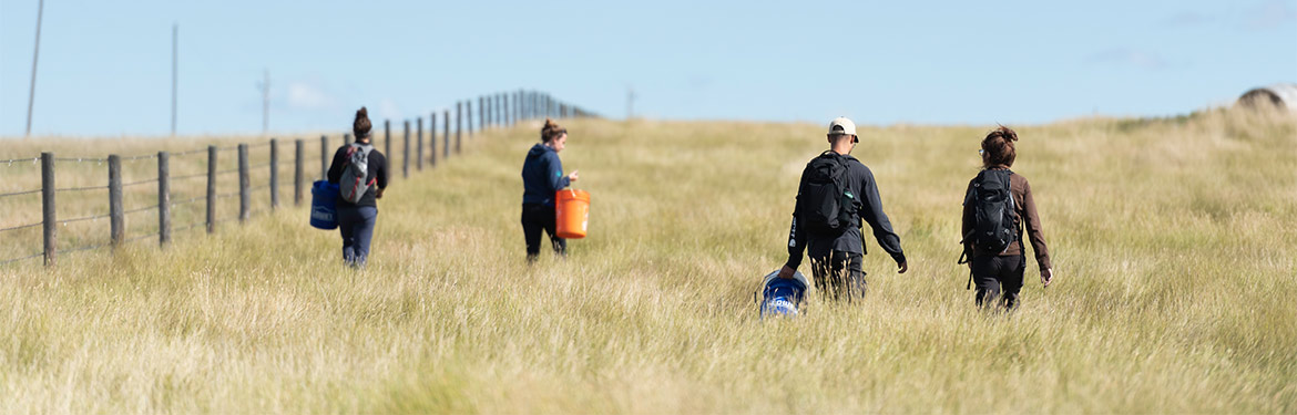 Conservation volunteers at Wideview, SK (Photo by Michael Bell)