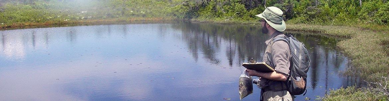 David Mazerolle, Atlantic Conservation Data Centre, Musquash NB (Photo by Karen Vanderwolf)