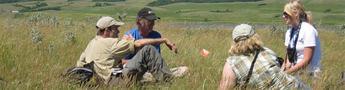 Conservation Volunteers bio blitz, Fairy Hill, SK (Photo by NCC)