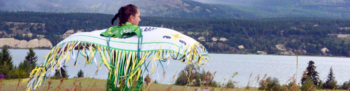 Martina Shovar of the Ktunaxa Nation dances at the celebration of the conservation of Columbia Lake – Lot 48 (Photo by Cole Lord-May)
