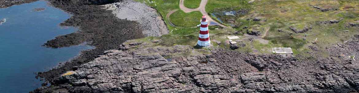 Lighthouse on the point of Brier Island (Photo by Mike Dembeck)