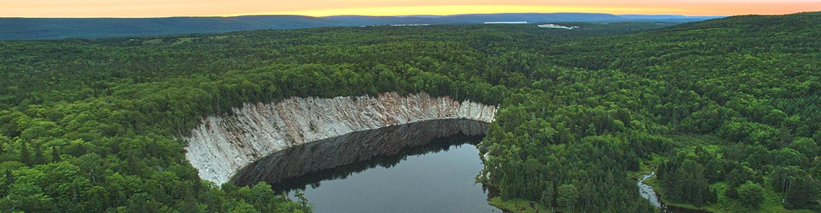 Karst topography in Little Narrows, Cape Breton (Photo by Mike Dembeck)