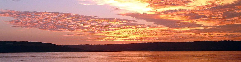 Lever du soleil à l'île Brier, Nouvelle-Écosse (Photo par June Swift)