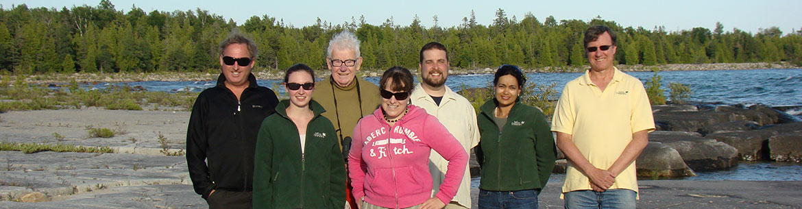 John Grant with NCC staff and donors, Manitoulin Island Archipelago, ON (Photo by NCC)