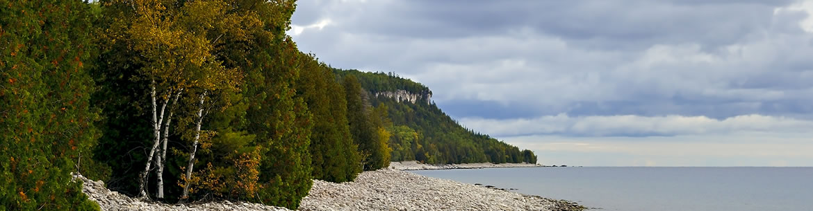 Cabot Head shoreline, Northern Bruce Peninsula, ON (Photo by Kas Stone)