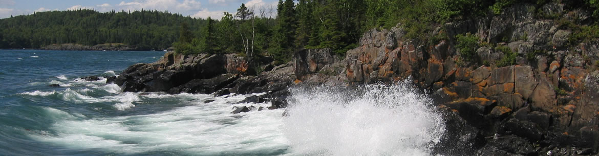 Waves crash on the northwestern Lake Superior coast, ON (Photo by John Anderson)
