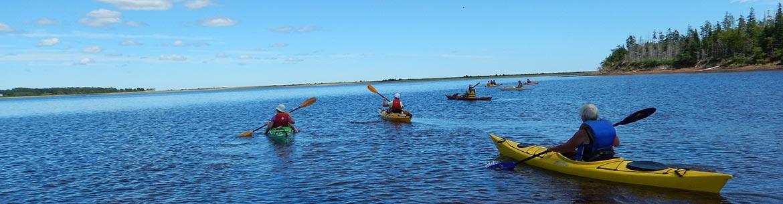 Paddling to Boughton Island, PEI (Photo by NCC)