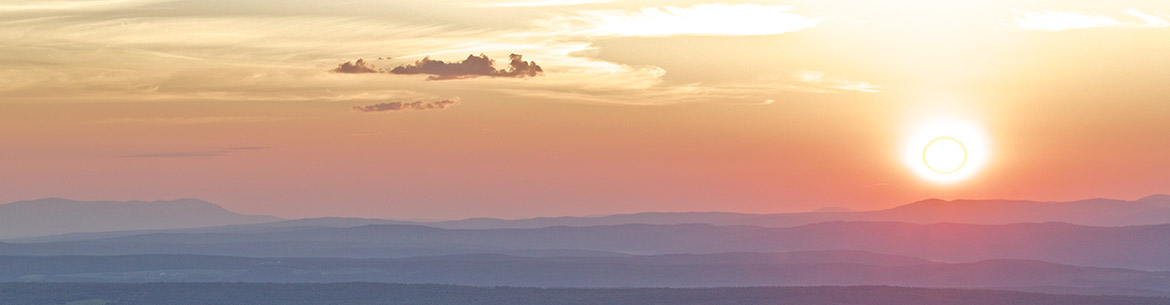 Sunset on Mount Hereford, Quebec (Photo by MRC de Coaticook)