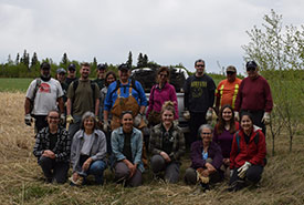 2019 Conservation Volunteers event in Alberta when I was a CV intern (Photo by NCC),