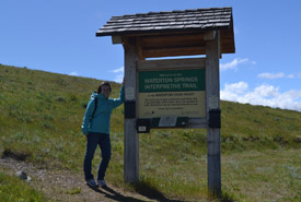 Waterton Springs interpretive trail (Photo by NCC)