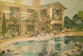 A painting of my grandfather's former house and backyard (Photo courtesy of Adam Hunter/NCC staff)