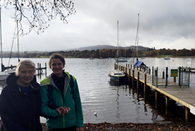 Author Zoë and her granny standing beside Lake Ambleside in England. (Photo by Zoë Arnold/NCC staff)