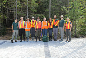 Conservation Volunteers, NCC staff and Bruce Peninsula National park staff (Photo by NCC)