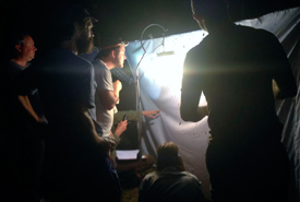 Bioblitz participants stayed up late to survey moths and bats. (Photo by Jody Allair)