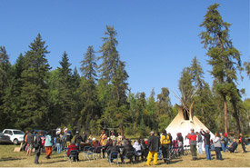 Views from Buffalo Treaty Signing Ceremony at Prince Albert National Park (Photo by Anthony Johnson)