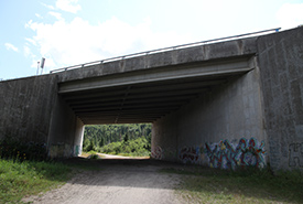 A future wildlife underpass in the Laurentians. (Photo by NCC)
