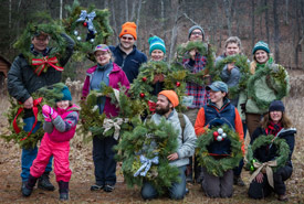 Conservation Volunteers at the Deck the Halls event (Photo by Nick Tardiff)