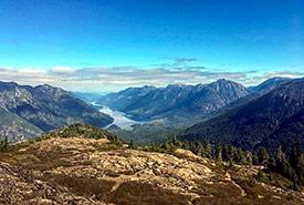 Flower Ridge overlooking Lake Crema, Strathcona Provincial Park (Photo by Lukas Saville)