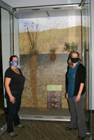 Debbie Thompson (left) and a very proud curator: me! (Photo courtesy of Manitoba Museum)