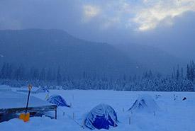 Camping d'hiver (Photo de Emma Savić Kallesøe)