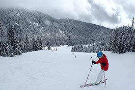 Skiing is one of Canada's favourite winter sports. (Photo by Emma Savić Kallesøe)