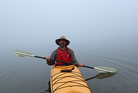 Evan Young kayaking (Photo by NCC)