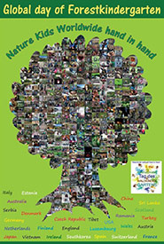 Global Day of Forest Kindergarten (Poster by Nature Office for the International Day of Forest Kindergarten)