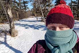 Dressed for birding in the polar vortex (Photo by Sarah Ludlow/NCC staff)
