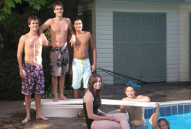 My cousins and I at my grandfather's pool in 2008 (Photo courtesy of Adam Hunter/NCC staff)