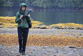 Capturing the sights and sounds of the Gullchucks Estuary (Photo by NCC)