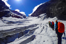 Hiking in the Swiss Alps (Photo courtesy Scouts Canada)