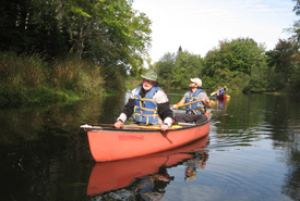 NCC's Pat Nussey paddles the way on the Musquodoboit River (Photo by NCC)