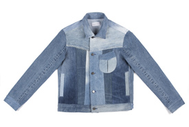 Atelier denim jacket made from repurposing the finest vintage materials. (Photo by Triarchy)