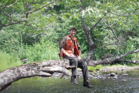 Josh Noseworthy relaxing in the woods (Photo courtesy of Josh Noseworthy)