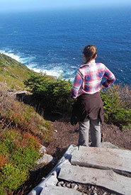 Dramatic landscape of the East Coast Trail. This location is near where the snowy owl was spotted. (Photo courtesy of Lanna Campbell/NCC staff)