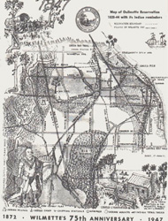 <i>Map of Ouilmette Reservation with its Indian Reminders, 1828–1844</i>, shows the first know documentation of trees as trail markers.