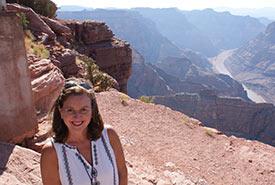 Marcella at Grand Canyon, U.S. (Photo courtesy of Marcella Zanella/NCC staff)