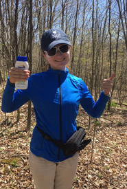 With my sun protection and bum bag, I'm the coolest conservation biologist in eastern Ontario (Photo by NCC)