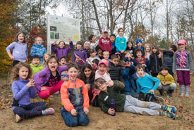 The class poses for a photo after a fun day in nature. (Photo by HSBC Bank Canada)