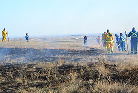 Prescribed burn at NCC's Old Man on His Back Prairie and Heritage Conservation Area, SK (Photo by NCC)
