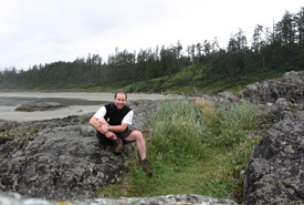Chris Perrin in Pacific Rim National Park Reserve, BC, 2006. (Photo courtesy Chris Perrin)