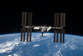 Icarus tags transmit their data to the International Space Station, pictured here in 2009 after a visit by the space shuttle Discovery to add additional solar panels. (Photo courtesy of STS-119 Shuttle Crew and NASA)