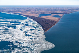 Aerial view of Point Pelee, ON (Photo by Gerry Kaiser)