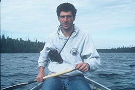 I paddled hundreds of kilometres searching for loons and their nests. (Photo by Kent Prior)