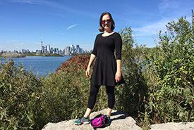 Roberta at Tommy Thompson Park, Toronto (Photo courtesy of Roberta Weisbrot/NCC staff)