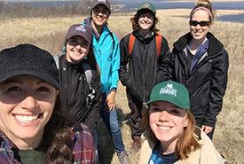 Summer interns of NCC's Saskatchewan region (Photo by NCC)