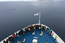 Group on the ship (Photo by NCC)