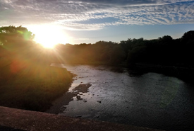 The Humber River at sunset (Photo by Adam Hunter/NCC staff)